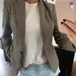 Jackets & Coats - Plaid Notch Collar Blazer